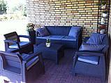 Набор садовой мебели Corfu Set Triple Max Graphite ( графит ) из искусственного ротанга ( Allibert by Keter ), фото 9
