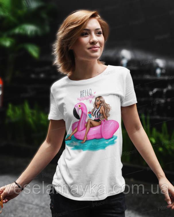 Стильная женская футболка Hello