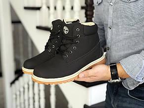 Мужские зимние ботинки Timberland коричневые,на меху, фото 3