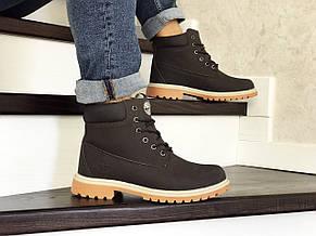 Мужские зимние ботинки Timberland коричневые,на меху, фото 2