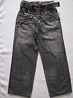 Стильные светло-серые джинсы для мальчиков с ремнем