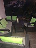 Набор садовой мебели Corfu Set Triple Max Brown ( коричневый ) из искусственного ротанга ( Allibert by Keter ), фото 3
