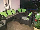 Набор садовой мебели Corfu Set Triple Max Brown ( коричневый ) из искусственного ротанга ( Allibert by Keter ), фото 6