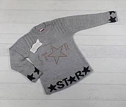 Детский вязаный свитер на девочку 4-5,6-7,8-9 лет