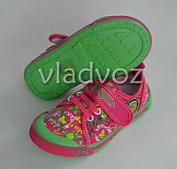 Сменная обувь мокасины для девочки Super Gear салатовый 28р.