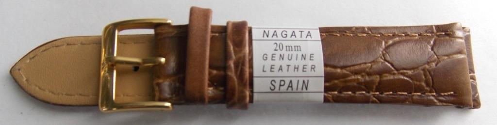 Ремешок кожаный NAGATA (ИСПАНИЯ) 20 мм, бледно-коричневый