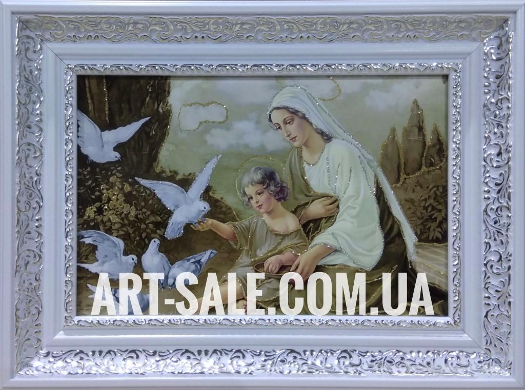 Икона Мария с голубями