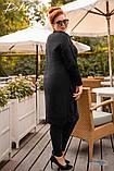 Женская вязанная кофта кардиган нить марса плотной вязки размер универсальный 44-48, 50-54, фото 2