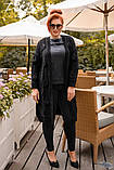 Женская вязанная кофта кардиган нить марса плотной вязки размер универсальный 44-48, 50-54, фото 4