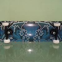 Трюковый скейтборд SALTO Explore, синий