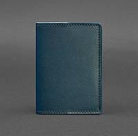 Обложка для паспорта из кожи 1.3 (зеленая) кожа Krast, фото 1