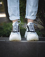 Кроссовки Prada White Женские, Белые, Натуральная Кожа /Текстиль. Кросівки Білі Кожа 36 и 40 размер