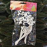 Новогоднее украшение «Олени белые» 17 см 2шт, фото 2