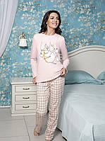 """Теплая байковая пижама женская из коллекции """"DOLLY"""" (30782)"""