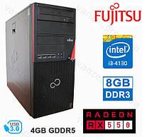 Fujitsu P720 - Intel Core i3-4130/ 8GB DDR3/ RX550 4GB GDDR5/ 500GB HDD Системный блок, Игровой ПК