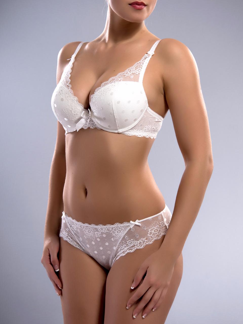 Комплект жіночої нижньої білизни Acousma A6407D-1-P6407-1H, колір Білий,  розмір 90D-XXL