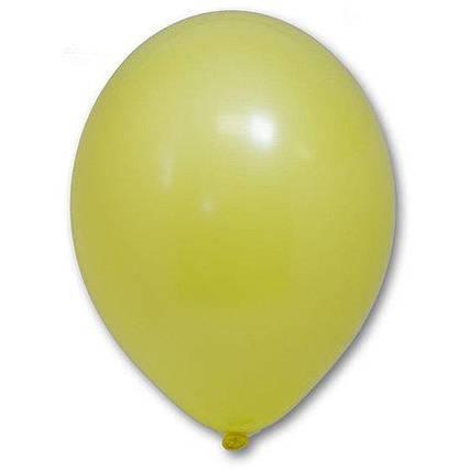 Повітряні кулі жовті пастель 30 см BelBal Бельгія 5 шт