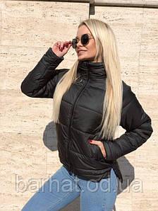 Стильная куртка на осень черного цвета