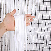 Шторка завісу з фольги для фото зон біла 1х2 метри
