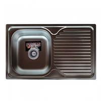 Врезная кухонная мойка Platinum 78*48 (мм) в покрытии micro-decor (структурная), с толщиной 0,8 (мм), фото 1
