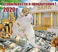 Листовые настенные плакаты формата А2 год Крысы,2020 год