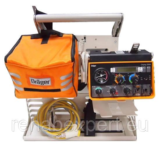 Респиратор дла Машины Скорой Помощи DRAGER Oxylog 2000 Ambulance Respirator