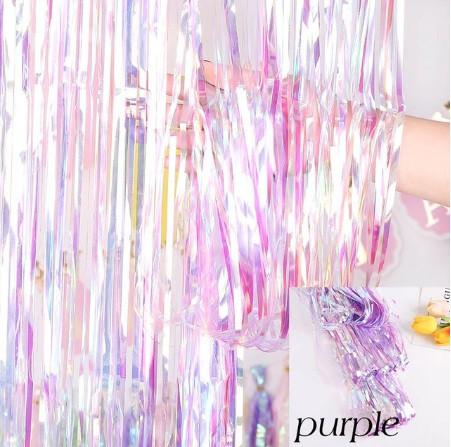 Дощик перламутровий фіолетовий для фотозоны 3*1м