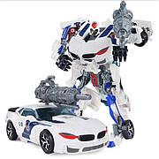 Робот полицейский / Полицейский трансформер машина, полицейская машина трансформер «POLICE CAR» 8820
