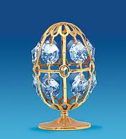 Фигурка Сваровски с позолотой Яйцо сувенирное AR-3230. Пасхальные сувениры