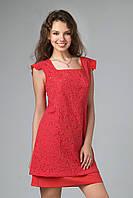 Легкое платье из вышитой ажурным рисунком ткани