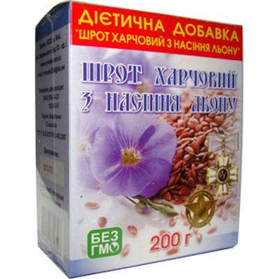 Шрот насіння льону 200 гр, Мирослав, фото 2
