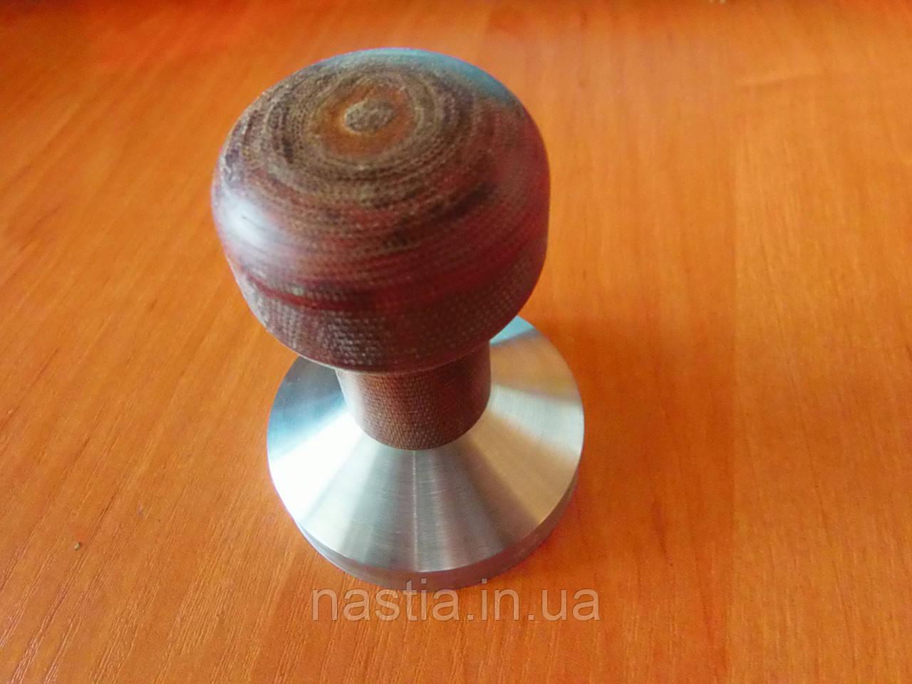 Темпер стальной с деревянной ручкой 54 мм