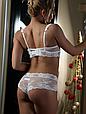 Комплект жіночої нижньої білизни Acousma A6439-1D-P6439-1H, колір Молочний,  розмір 80D-L, фото 3