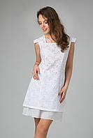 Нежное молодежное платье из ажурной ткани