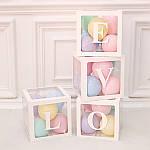 Декор для воздушных шаров (белые кубики) LOVE
