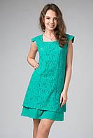 Яркое летнее ажурное платье с подкладкой