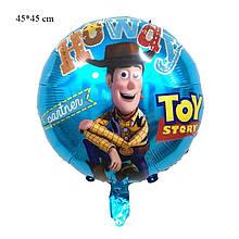 Фольгированный круглый шар с рисунком история игрушек, 45 см
