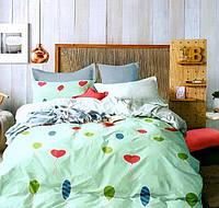 Комплект постельного белья двуспальный Евро (4 наволочки) Lovely Hearts Сатин Фабричная Турция