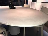 Обеденный овальный бетонный стол PODIUM 200x106 см фабрики BONTEMPI (Италия), фото 10