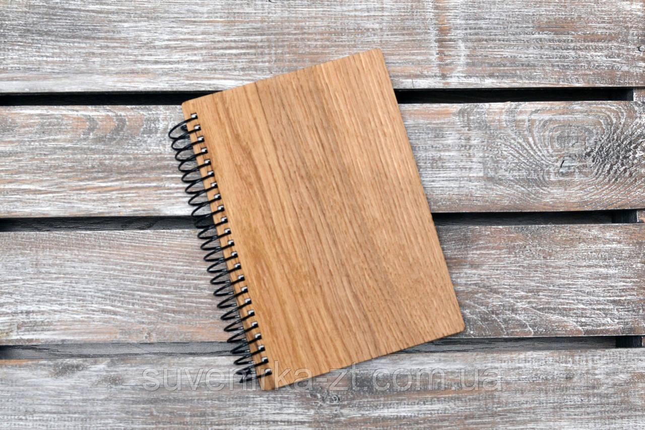 Блокноты с деревянной обложкой. Формат А5. Сменный блок. (А00412)