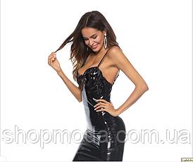 Латексное сексуальное платье, фото 2