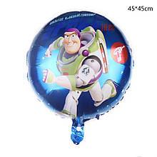 Фольгированный круглый шар с рисунком история игрушек, Базз 45 см