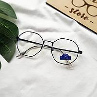 Новые женские очки в черной металлической оправе для работы за компьютером компьютерные компьютерні окуляри
