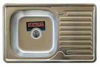 Врезная кухонная мойка Platinum 78*50 (мм) в покрытии micro-decor (структурная), с толщиной 0,8 (мм), фото 1