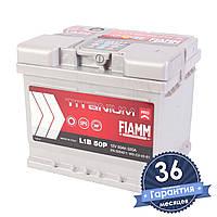 Аккумулятор автомобильный FIAMM Titanium Pro 6CT 50Ah, пусковой ток 520А (Низкий) [– +] (L1B 50P)
