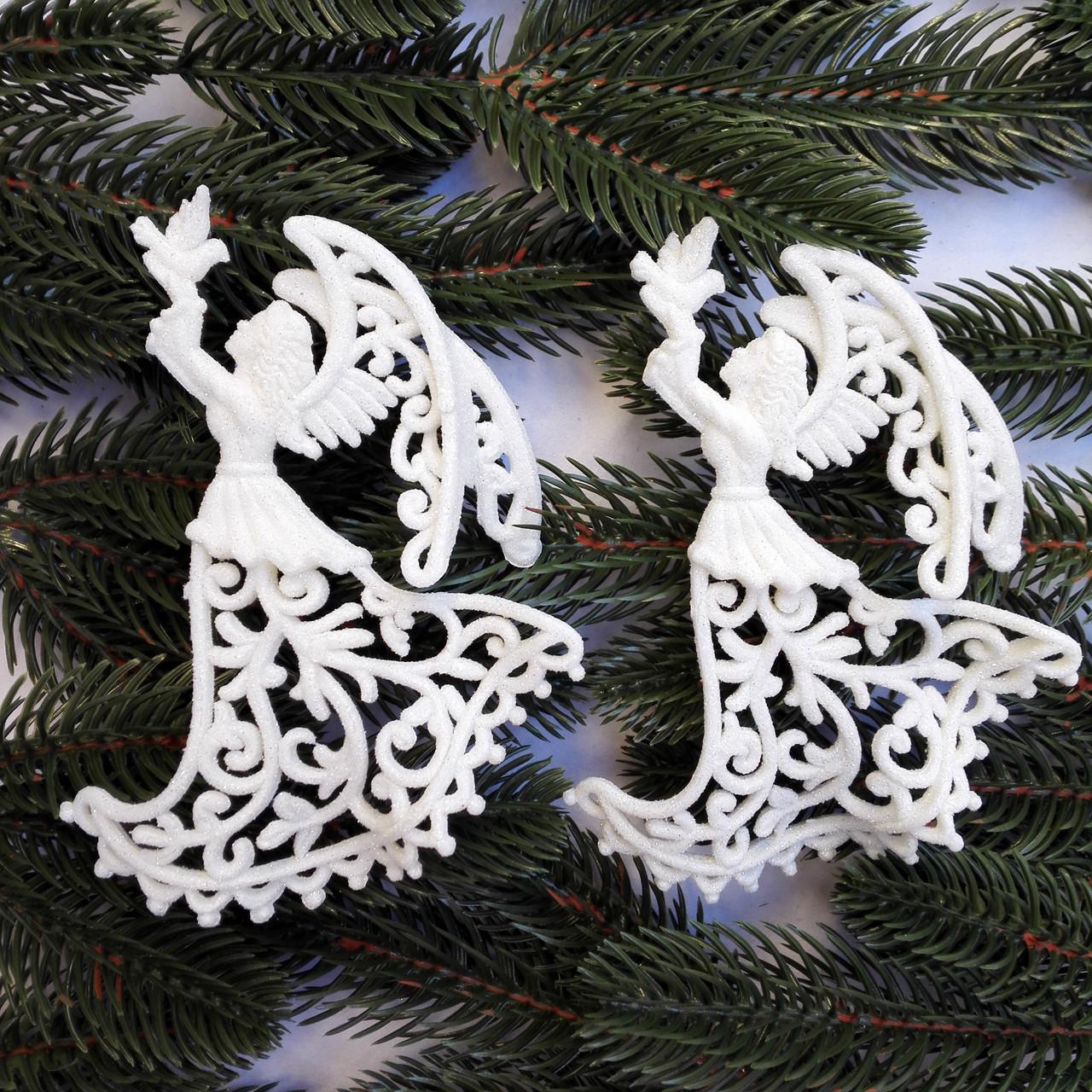 Новогоднее украшение « Ангел с голубем « 2шт