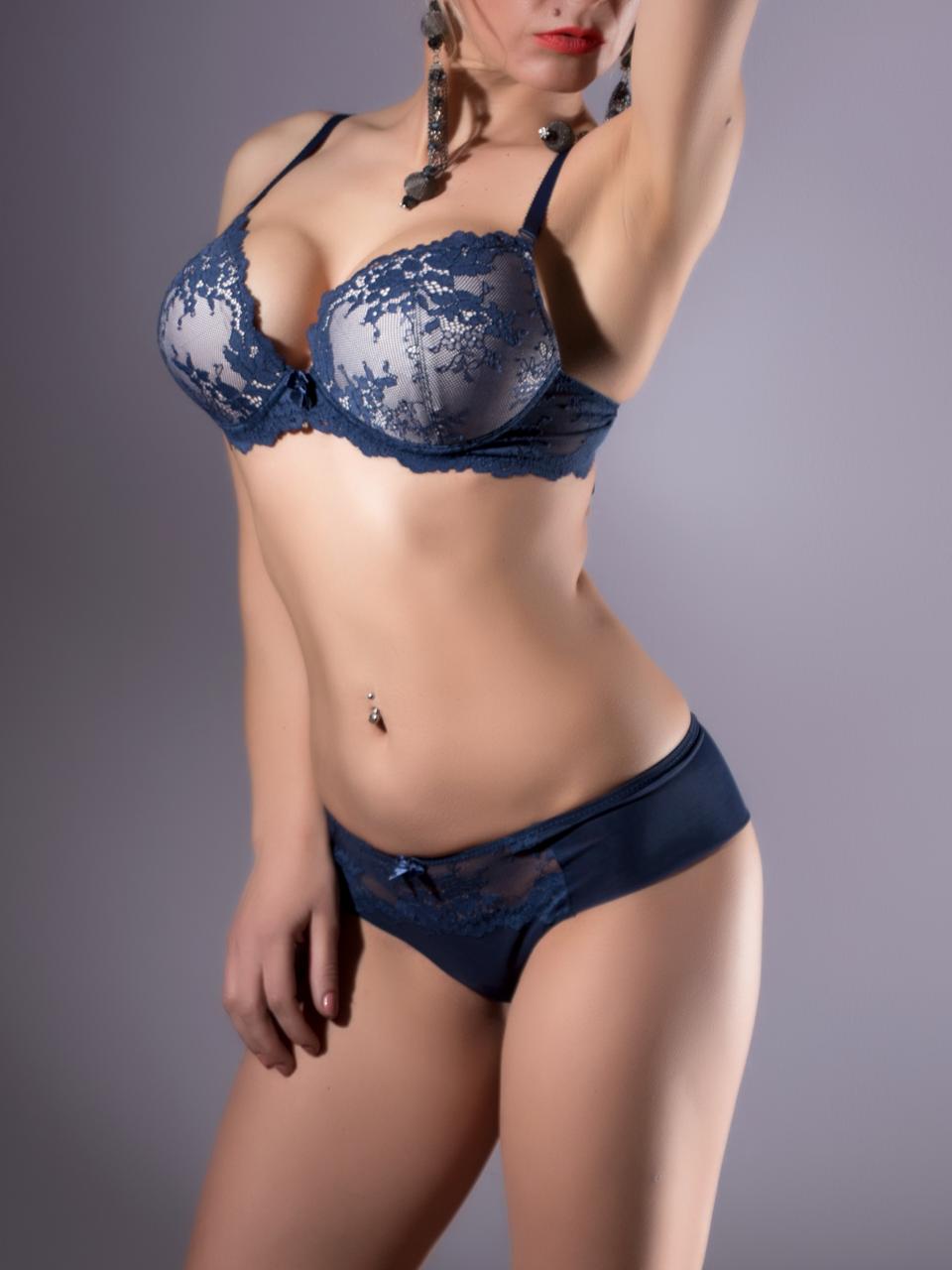Комплект женского нижнего белья Acousma A6438BC-P6438H, цвет Синий-Пудра, размер 80B-L