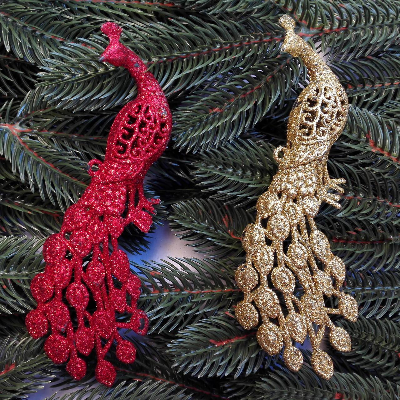 Новогоднее украшение «жар птица « 2 шт