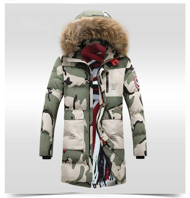Куртка-пуховик парка мужская зимняя (+ БОЛЬШИЕ размеры)