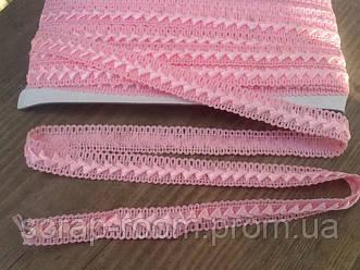Тесьма самоса 18 мм цвет розовая, тесьма самоса розовая нежная, цена указана за 1 метр